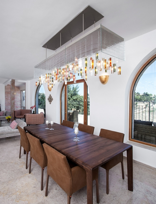 Large stained glass lighting chandelier