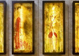 framed glass and light pictures