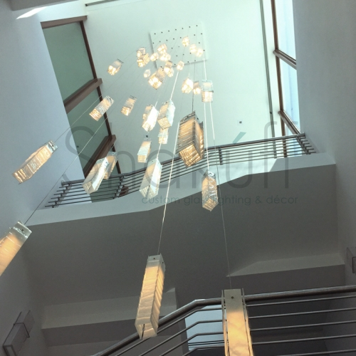 contemporary large foyer chandelier