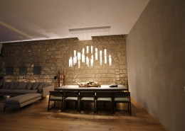 """Contemporary glass """"Candles"""" chandelier for dining table"""