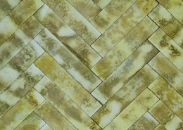 Gold hues Hand made glass tiles