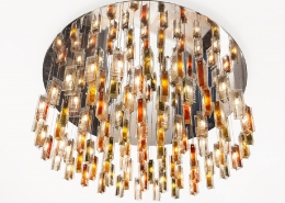 large luxury glass chandelier