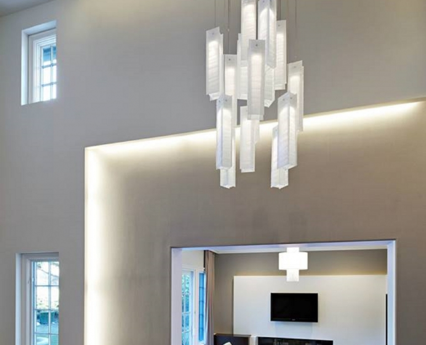 Long glass pendants light