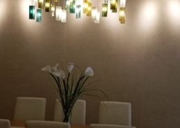 Colorful chandelier lighting