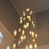 colorful stain glass pendant light