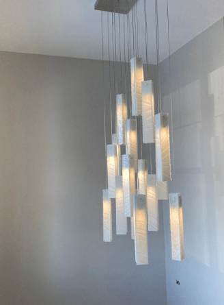 hanging ceiling light white glass