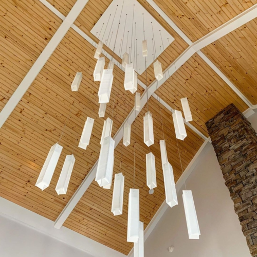 Modern ceiling light for slope ceiling