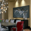 Dining lighting colorful chandelier