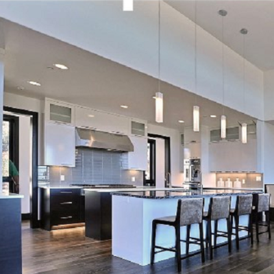 Hanging lamp for kitchen island