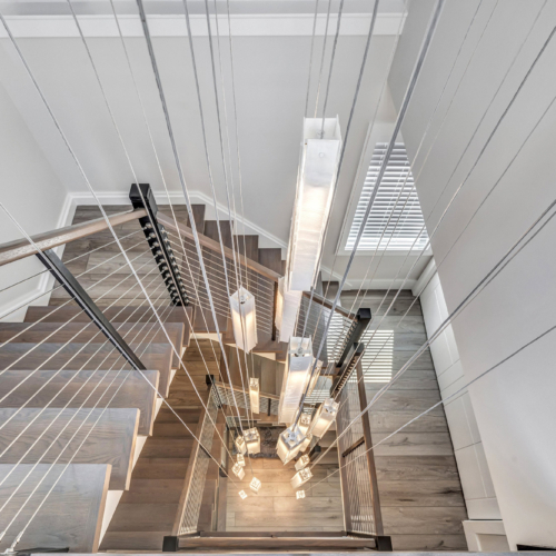 Staircase chandelier lighting